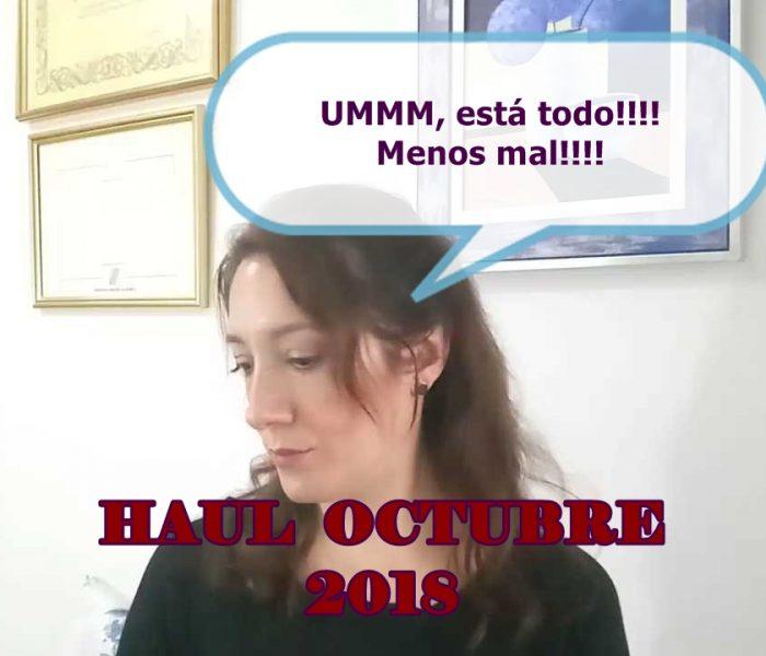 HAUL DE OCTUBRE 2018