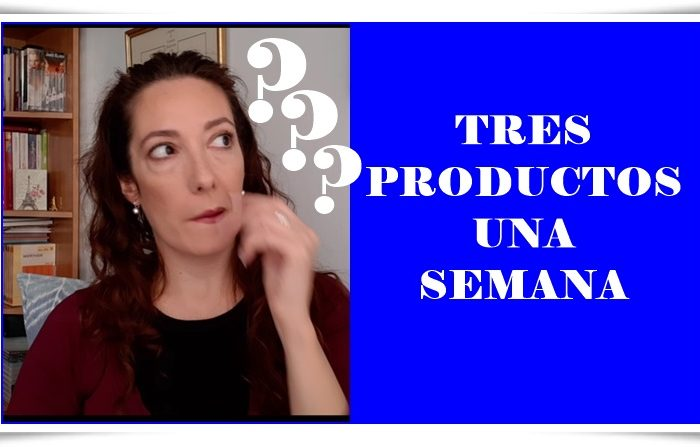 TRES PRODUCTOS UNA SEMANA (YOUTUBE)