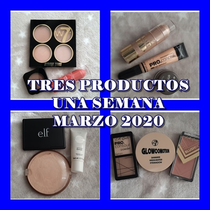 TRES PRODUCTOS UNA SEMANA MARZO 2020