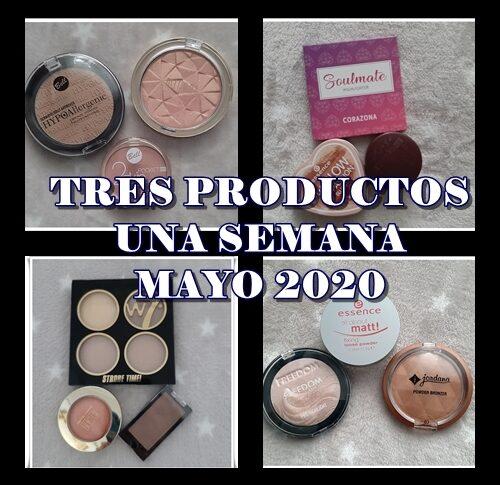 TRES PRODUCTOS UNA SEMANA MAYO 2020