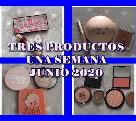 TRES PRODUCTOS UNA SEMANA JUNIO 2020
